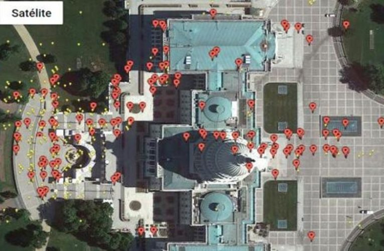 This is the interactive map that shows the assault on the US Capitol through videos