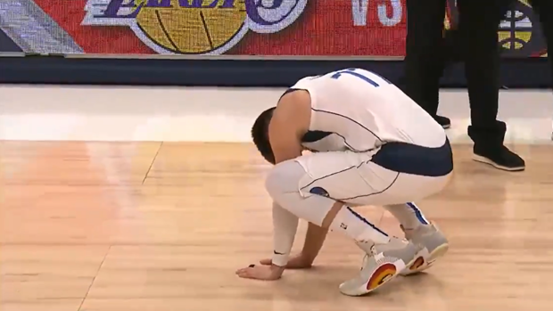 Doncic's reaction after missing a decisive shot after another great performance