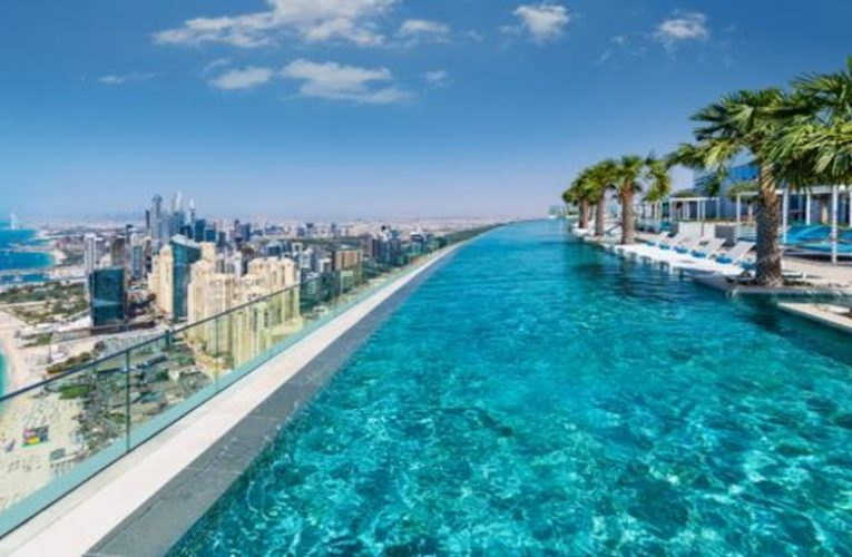 This is the new tallest outdoor infinity pool in the world