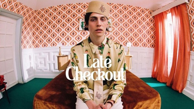 This is 'Late-Checkout', the prohibitive clothing line by C. Tangana