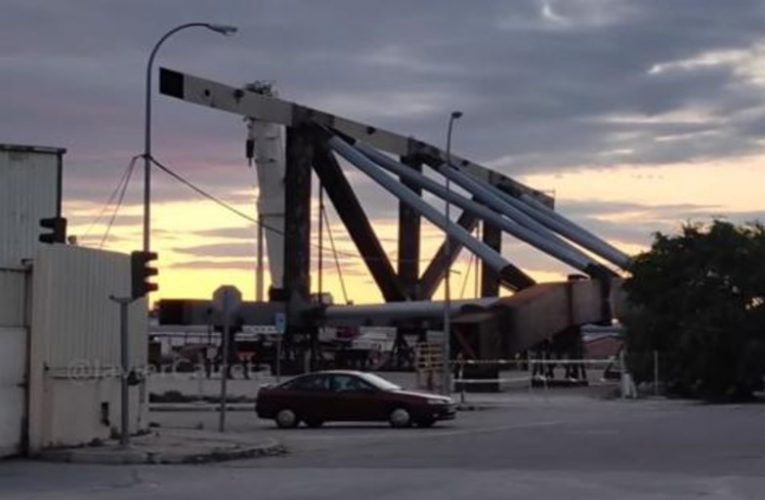 This is how the huge crown beam that will shape the new Santiago Bernabéu looks like