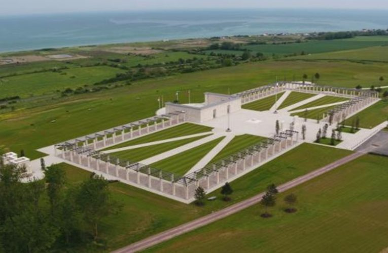 A new monument in honor of the victims of the Normandy Landing
